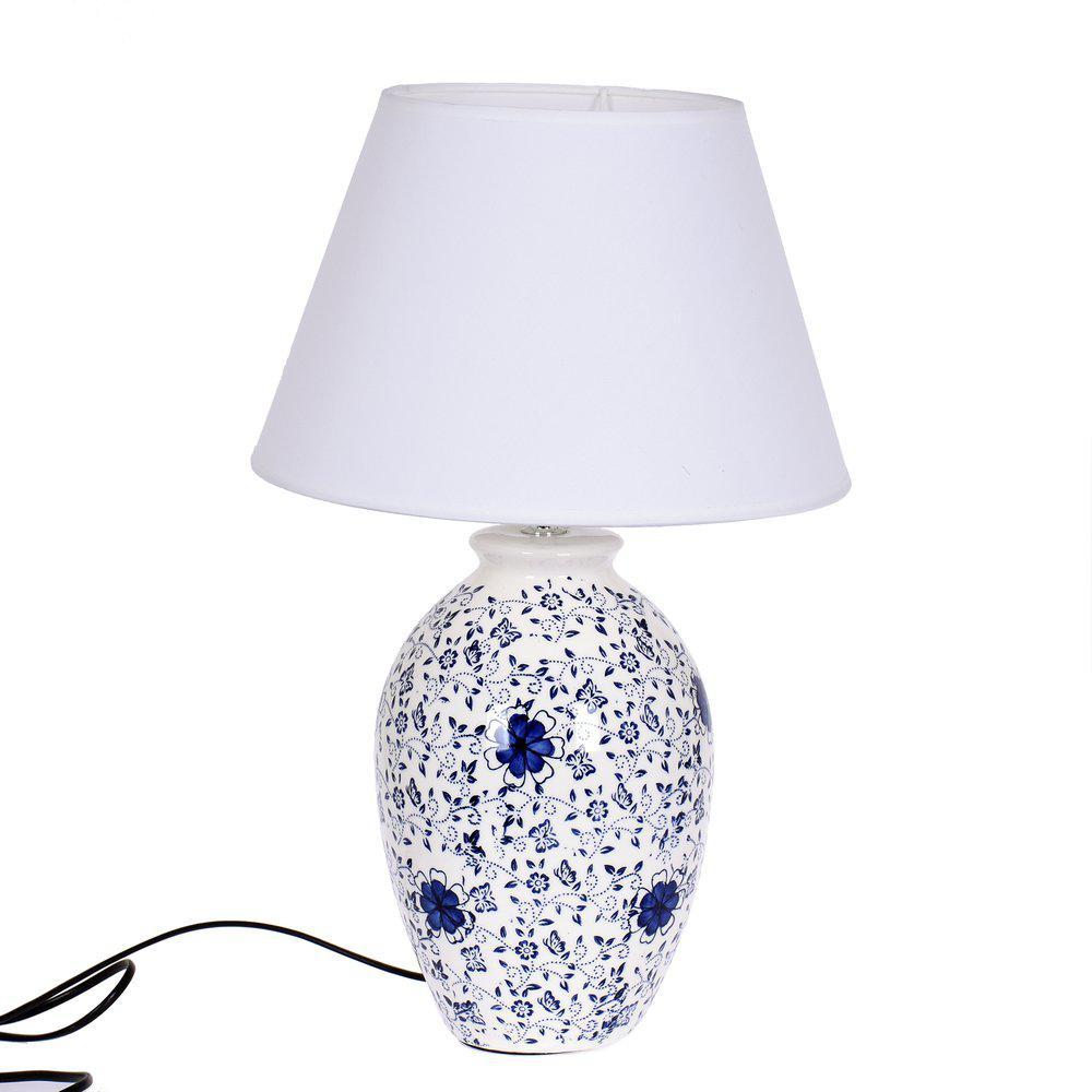 Bordslampa Blommig BlåVit | In & Finn